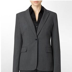 NEW Calvin Klein one button charcoal blazer Sz2